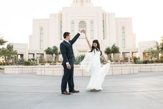 LDS Gilbert AZ Temple Wedding by Conway Captions