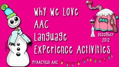 Why We Love AAC Language Experience Activities: Must read for those teaching communication to AAC users Speech Language Pathology, Speech And Language, Sign Language, Language Arts, Communication Book, Communication Activities, Have Fun Teaching, Teaching Ideas, Autism Resources
