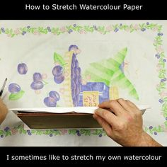 How to stretch watercolor paper using a home-made stretcher board. Take a look at the complete video on YouTube to see how I made the board and used it to stretch a piece of watercolor paper. You will find the result drum-taught and perfect to use. . #PaulHopkinson #TheDevonArtist #howtostretchpaper #howtostretchwatercolorpaper #stretchingpaper #watercolorpaper #stretchedpaper #watercolortips #watercolourtips #watercolourpaper Watercolor Tips, Watercolor Techniques, Painting Techniques, Watercolor Flowers, Watercolor Paper, Watercolor Paintings, Paint Cans, Learn To Paint, Homemade