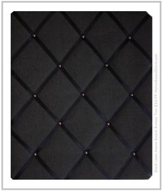 Black Linen Memo Board Bronze Trim Mens Message Board www.NoticeBoardStore.com