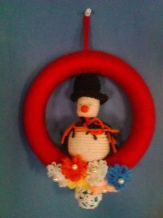 Ghirlanda con pupazzo di neve