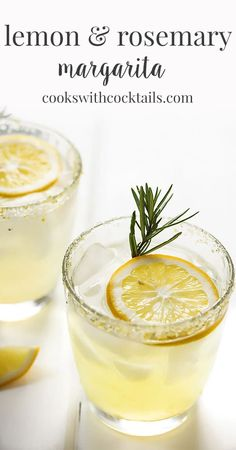 A gorgeous lemon margarita on the rocks made with sweet and tart meyer lemons and sweetened further with a rosemary infused simple syrup. The perfect cocktail Spring Cocktails, Classic Cocktails, Lemon Cocktails, Tequila, Martini, Rosemary Cocktail, Body Cleanse Diet, Rosemary Simple Syrup, Cocktail Syrups