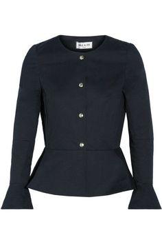 Paul & Joe - Cotton-blend Peplum Jacket - Midnight blue - FR34