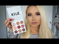 KYLIE COSMETICS BURGUNDY PALETTE ♡ Review, Swatches, Tutorial - YouTube