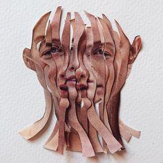 "Saatchi Gallery on Instagram: ""🧩 Puzzling #TuesdayThoughts with German-based artist @loucrow, 'Representation', 2019⠀ ⠀ #Collage #ContemporaryArt #Art"" Saatchi Gallery, Distortion Art, Face Collage, Collage Artwork, Collages, Site Art, Art Alevel, Gcse Art Sketchbook, Photocollage"