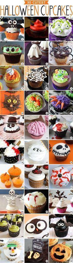 30 Cutest Halloween Cupcakes
