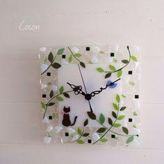 Fused Glass, Creema, Clocks, Wall, Handmade, Home Decor, Watch, Ideas