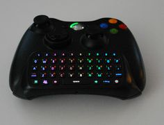 Custom Microsoft Xbox 360 Chatpad LED Rainbow Light Mod, Black Chatpad