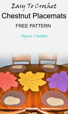 Chestnut Placemat Crochet Pattern Free - Agnes Creates