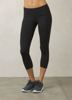 Charcoal Heather Confetti Prism Capri   bluesign®️️️️️️️️ certified Chakara performance fabric that is moisture wicking, compressive and stretchy. #sustainability #ecofashion #ecofriendly #yoga #fitness #active #healthy