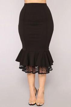 Be My Senorita Skirt - Black Lace Skirt, Midi Skirt, Online Fashion Stores, Club Dresses, Curvy Fashion, A Line Skirts, Plus Size Outfits, High Waisted Skirt, Autumn Fashion