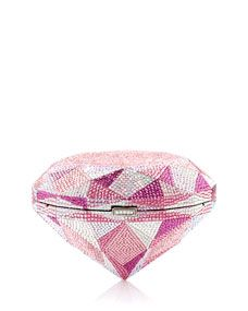 Pink Diamond Clutch Bag by Judith Leiber Couture at Neiman Marcus Houston Museum, Couture Handbags, Judith Leiber, Fancy, Austrian Crystal, Metallic Leather, Evening Bags, Evening Clutches, Clutch Bag