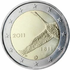 2 euro commémorative 2011 Finlande - Commémoration du bicentenaire de la Banque de Finlande : tirage 1 500 000 ex