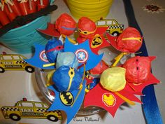 Sweets at a Superhero Party #superhero #partysweets