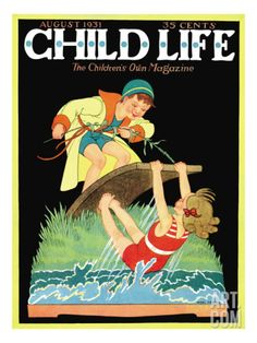 Summer Fun - Child Life, August 1931 Giclee Print