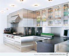 16 metal kitchen cabinet ideas - Stainless Steel Kitchen Cabinets