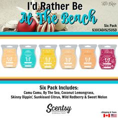 Scentsy 6-Pack I'd Rather Be... FW2016 Flyer By: Brittany McKee Admin Of…