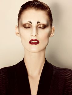 """""""High Brow"""", Interview Magazine 2012.  Make-up by Diane Kendal.  Photography by Craig McDean.  Hair by Rutger."""