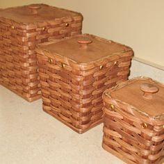 Picture of Amish Made Baskets Canister Set YES please!  I have no clue where to buy these.