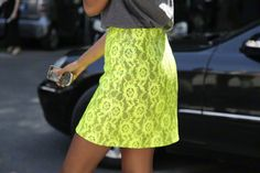 Neon lace is hot for spring!