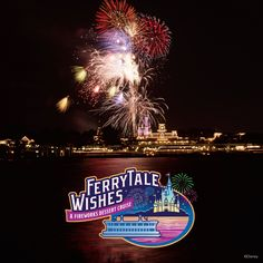 FerryTale Wishes. A Walt Disney World Fireworks Dessert Cruise. This would be at the perfect way to spend your first night In Disney World, especially if you do not have park tickets for that day. Disney World Resorts, Walt Disney World, Disney World Fireworks, Disney Destinations, Disney Vacations, Disney Trips, Disney Deals, Disney World Magic Kingdom, Disney Cruise Line