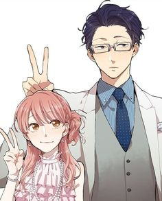 Anime/manga: wotakoi: love is hard for an otaku Otaku Anime, Manga Anime, Fanarts Anime, Manga Couple, Anime Love Couple, Cute Anime Couples, Anime Style, Kawaii Anime, Kawaii Art