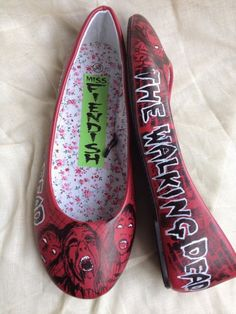 The Walking Dead Shoes by MissFiendishApparel on Etsy
