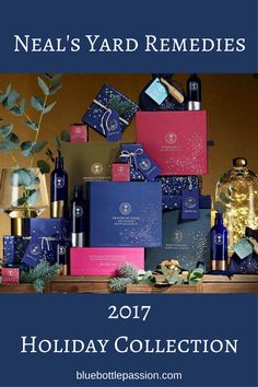 Neal's Yard Remedies stunning 2017 Holiday Collection gift boxes are now available in the US, and offers something for everyone! Geranium Essential Oil, Lemon Essential Oils, Holiday Gift Guide, Holiday Gifts, Neals Yard Remedies, Pamper Party, Hanukkah Gifts, Beauty Balm, Blue Bottle