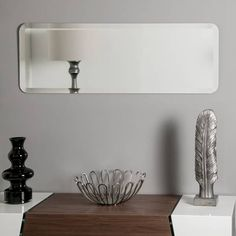 Frameless Mirror, Beveled Mirror, Wall Mirror, Cheap Mirrors, Long Walls, Mirror Shapes, Thing 1, Living Room Mirrors