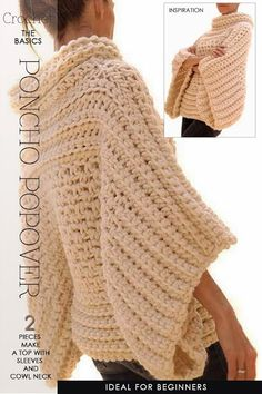 DiaryofaCreativeFanatic ~ Crochet, Poncho Popover - Found on diaryofacreativefanatic.com