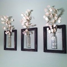 Great wall design idea- makes the wall more lively!