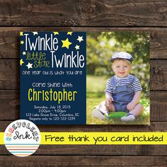 Twinkle Twinkle Little Star First Birthday by BenevolentINK
