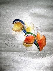 Mandarin Duckie Obi (KatyCrayon-san) Tags: japan duck nagoya kimono obi kitsuke