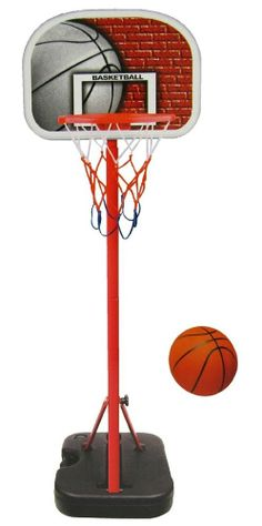 Junior Portable Basketball System Hoop Stand Indoor Outdoor Patio Deck Pool Toys