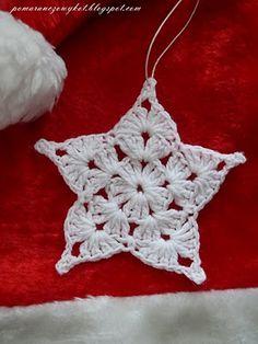 crochet snowflakes czyli włóczkowe śnieżynki i gwiazdki :) Crochet Snowflake Pattern, Crochet Stars, Crochet Motifs, Christmas Crochet Patterns, Holiday Crochet, Crochet Snowflakes, Thread Crochet, Crochet Crafts, Crochet Flowers