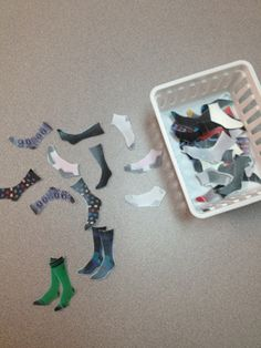 One of those hated chores. Everyone goes through that dreaded laundry pile trying to find socks that match and it is always. Teaching Life Skills, Student Learning, Learning Games, Teaching Ideas, Classroom Fun, Classroom Activities, Sensory Activities, Vocational Tasks, Pippi Longstocking