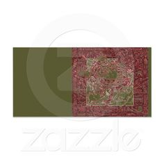 Mosaic Rose Vintage Photo Card