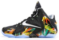 "Nike LeBron 11 ""Everglades"": Nike presents the LeBron 11 ""Everglades,"" the latest colorway to drop for LeBron's signature shoe. Nike Lebron, Lebron 11, Lebron James, Nike Presents, James Shoes, Nike Leggings, Nike Basketball Shoes, Basketball Moves, Basketball Hoop"