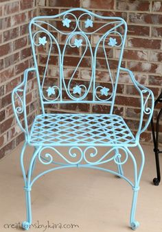 How To Transform Rusty Metal Patio Furniture the Easy Way! - Creations by Kara
