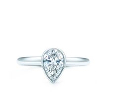 Perfect Tiffany pear shaped engagement ring. Maybe one day he'll be able to afford this one!