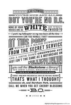 SLIGHTLY INSULTING CHICAGO POSTERS on Typography Served