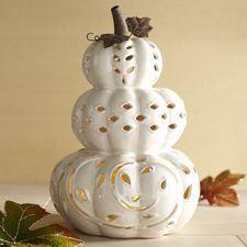 Stacked Pumpkin Tealight Holder