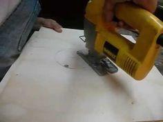 Como hacer circulo en madera con sierra caladora paso a paso - YouTube