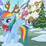 Christmas and New Year with Pinkie Pie, Rainbow (Rainbow Dash), Rarity, Spike, Twilight Sparkle (Twilight Sparkle) Fluttershy EPL Jack.