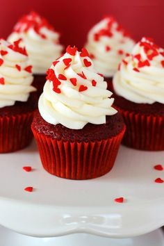 Yummy Red Velvet Cupcake Ideas, 2014 Heart Cupcake Toppers, Valentine's Day Food Decor Ideas