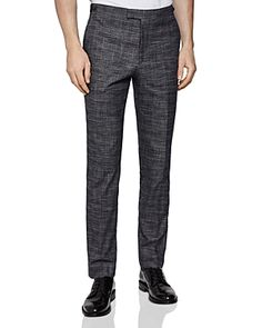 Reiss Cheval Checked Slim Fit Pants In Navy Slim Fit Pants, Reiss, Workout Pants, Sweatpants, Mens Fashion, Navy, Shopping, Clothes, Collection