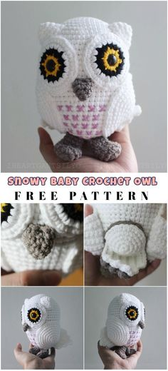 Free Pattern Little Baby Snowy Owl is a fantastic decoration or toy for children. Perfect design and colors pretend to one of the best-written patterns