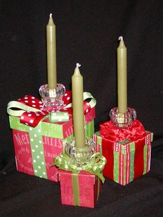 Christmas Table Decoration | Gift Boxes Centerpiece
