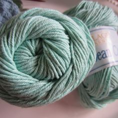 Village Yarn Caribbean Cotton Pastel Green by GMaEllenCrochetGifts, $7.50