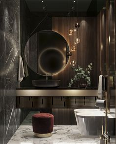 Proper lighting in the bathroom is the key to your beauty. Here you begin and end your day, so it must be functional and safe.  ~ Правильное освещение в ванной комнате – это ключ к вашей красоте. Здесь вы начинаете и заканчиваете свой день, поэтому оно обязано быть функциональным и безопасным. #studia54 #interiordesign #designideas #inspiration #bathroom